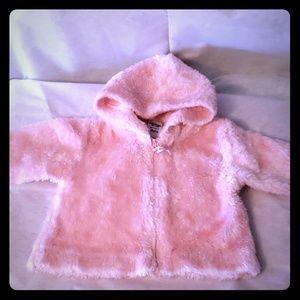 Baby girl 18 mo fur jacket